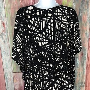 Calvin Klein Dresses - NWOT Calvin Klein batwing Black & White Dress